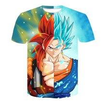 Red Spy 2018 Summer Hot Men's T-shirt 3D Printing Dragon Ball Z Ninja Cartoon Tops Street Fashion Brand Casual T-shirt AE097