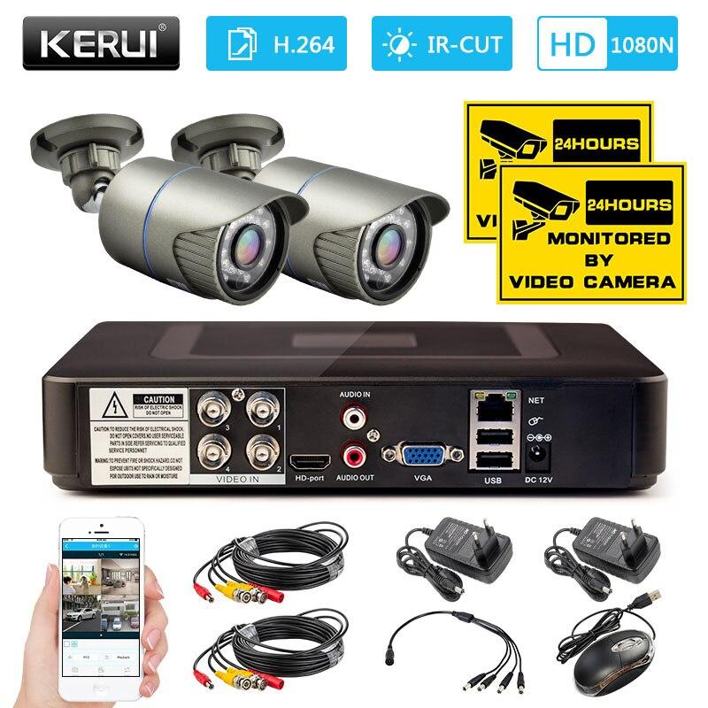 1080N 4CH CCTV Surveillance Camera Security System DVR Kit Night vision 2000TVL 720P AHD Outdoor Waterproof Camera System цена