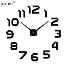 hot 2015 new quartz 3d diy wall clocks fashion home decor acrylic mirror clock horloge modern watch sticker free shipping