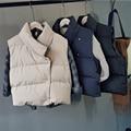 Winter Fashion Cotton Vest Women Irregular Short Cotton Jacket Down Coat Women Casual Waistcoat Female Sleeveless Cotton Vest