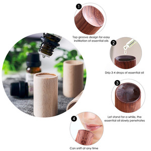 Image 3 - Wood essential Oil Car Diffuser Air Refreshing Freshener Relieve Driving Fatigue Auto Interior Aroma Perfume Scent Car Accessory