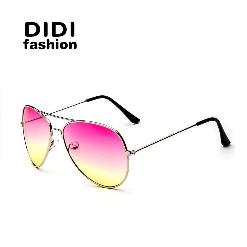 Rainbow Sunglasses Oversized Military Brown Aviation Glasses Women Brand  Designer Gradient Pink Red Shades Cheap Eyewear W308 c437849e21