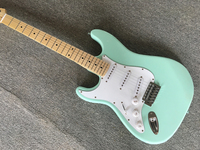 electric guitar Left hand Light green color guitar, high quality,Free shipping