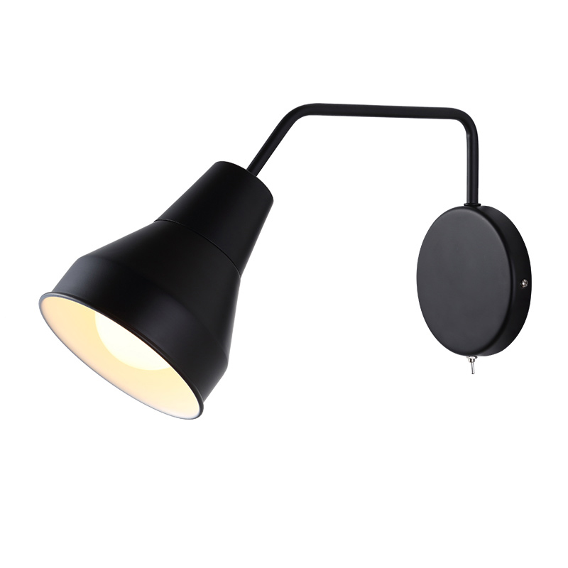 Nordic Simple Bedside Reading Lamp Modern White Black Metal Wall Light Study Bedroom Wall Sconces Home Decorative Lighting WL231Nordic Simple Bedside Reading Lamp Modern White Black Metal Wall Light Study Bedroom Wall Sconces Home Decorative Lighting WL231