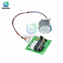 цена на 1Set 28BYJ-48 DC 5V 4 Phase Gear Stepper Motor + ULN2003 Driver Board for Arduino