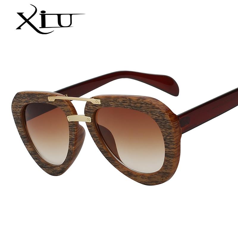 Wood Sunglasses Women Vintage Brand Designer Sun glasses ...