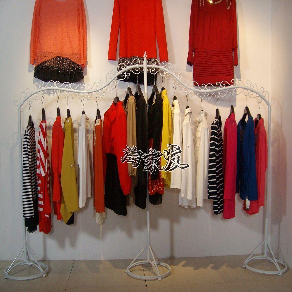Iron clothing display clothing store shelf floor rack clothes rack clothing rack clothes hangers