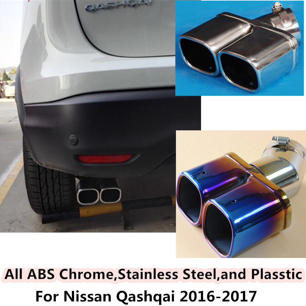 Aliexpress com buy high quality for nissan qashqai 2016 2017 car cover muffler exterior end pipe dedicate stainless steel exhaust tip tail 1pcs set from