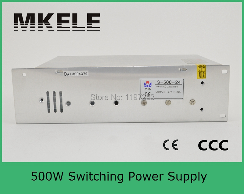 ФОТО short circuit protection wide range input light weight single output S-500-24 20A switching power supply 24v 500w smps
