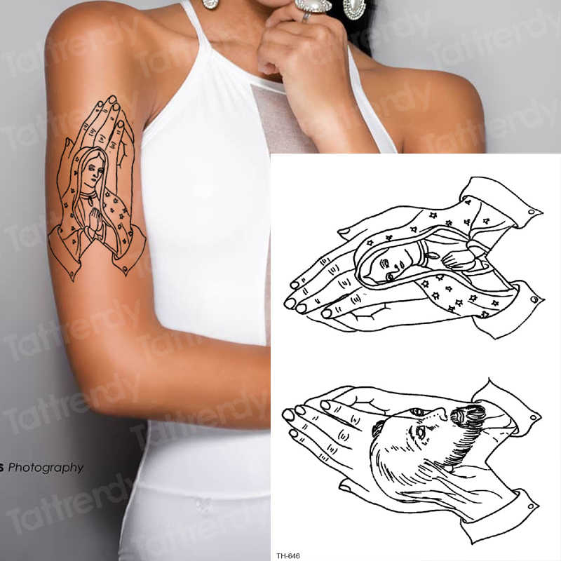 Temporary Tattoo Sticker For Men Sketches Tattoo Designs Men Shoulder Tattoos Chest Black Big Tatoo Sketch Waterproof Body Art