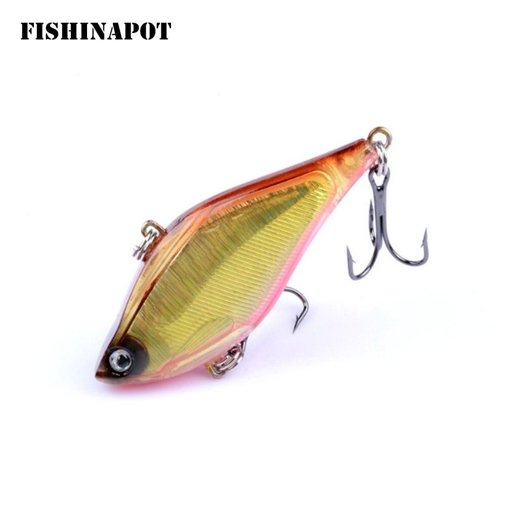 1PCS Fishing Lure Sinking Laser VIB Lure 13.5g 6cm Vibration 6# Hooks Hard Baits Crankbaits Wobbler Bass Fresh Water Fishing