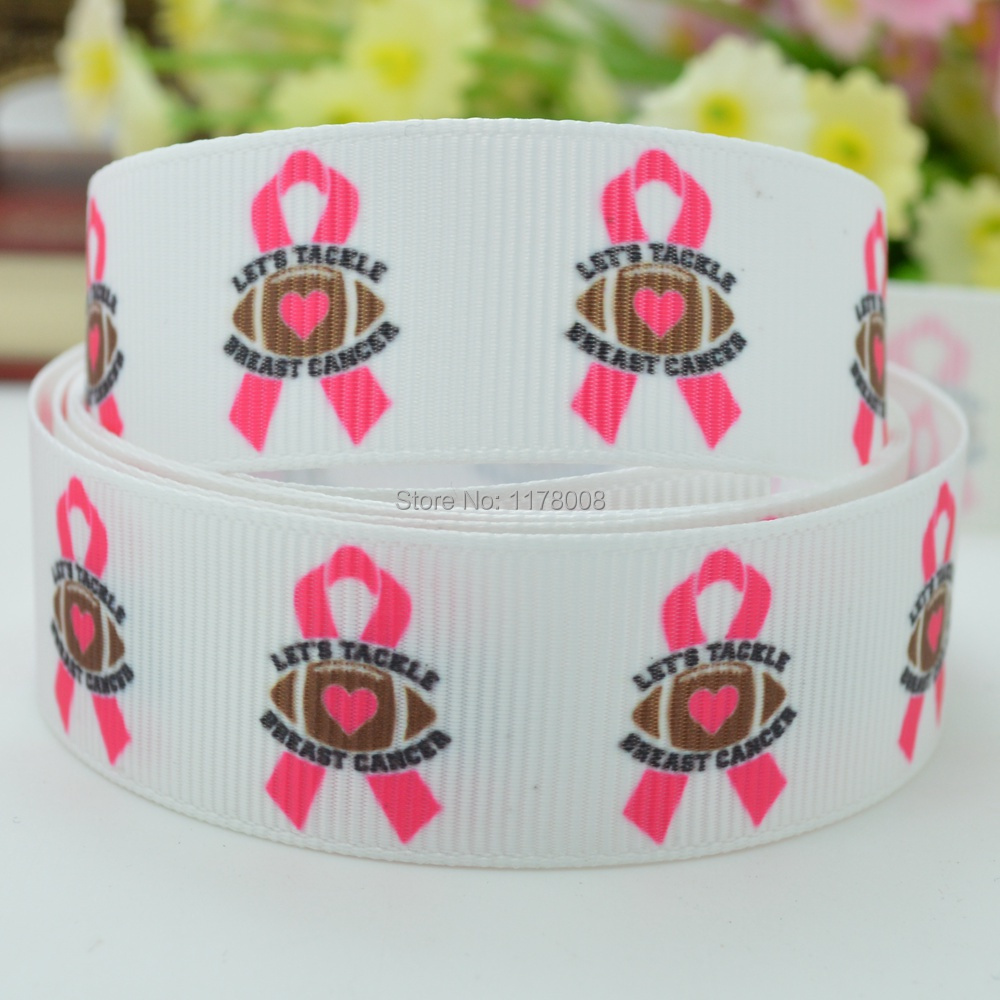 "Grosgrain Breast Cancer Awareness Ribbon 7//8/"" 22mm"