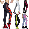 2016 New Woman Leggings Print Letter Skeleton High Waisted Stretch Leggings Super Elastic Capris Workout Pants fitness Leggings