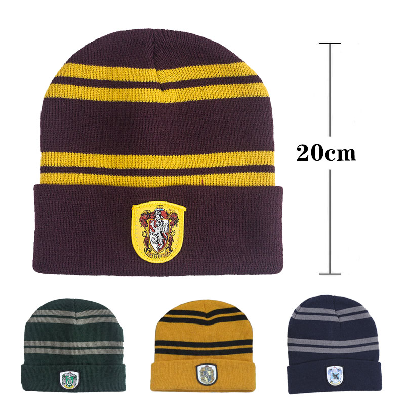 College  Hat Gryffindor  Slytherin  Hufflepuff  Ravenclaw  Scarf  Cosplay Costume Christmas Halloween Children's Gift