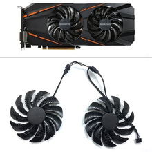 все цены на New T129215SU PC Cooling fan For  Gigabyte Geforce GTX 1050 1050TI 1060 1070 1070TI G1 Radeon RX 570 580 470 Cooler Fan Replace онлайн