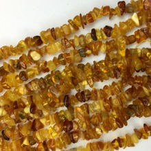 Venta al por mayor naturales amarillo claro ámbar Nugget Chip suelta perlas  de forma libre 5x8 x mm 15