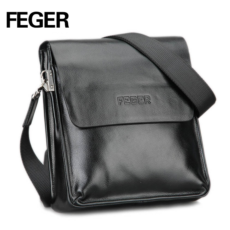 ee38d643c24b Online Shop FEGER Best Selling PU Men s Messenger Bag Single Shoulder Bag  for Men Commuting Bag Free Shipping