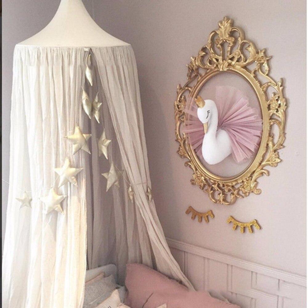 2018 Cute 3D Golden Crown Swan Wall Art Hanging Girl Swan Doll Stuffed Toy Animal Head Wall Decor For Kids Room Birthday Gift