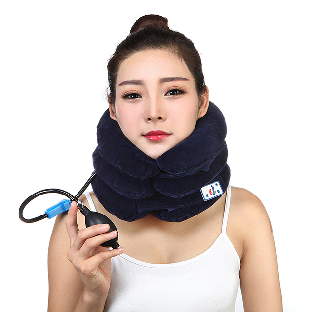 Cervical Neck support Traction Soft Brace Neck Massager Cervical Vertebra protection Belt Neck Pain Health Care 2016 JZ-01 CC