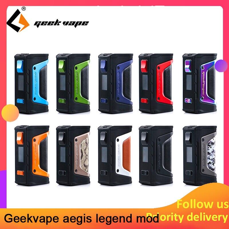 Kit vape GeekVape Aegis mod aegis Legend 200 W TC Box MOD alimenté par deux batteries 18650 e cigs pas de batterie pour zeus rta blitzen