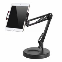 Universal 360 Rotation Desk Long Arm Phone Tablet Stands Support for iPad Pro for iPhone Smartphone Table Stent Flexible Holder