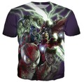 Marvel Zombies The Avengers Crewneck t shirt Women Men Spider-Man Iron Man Hulk Cartoon Character T-Shirt Summer  Tops Tees