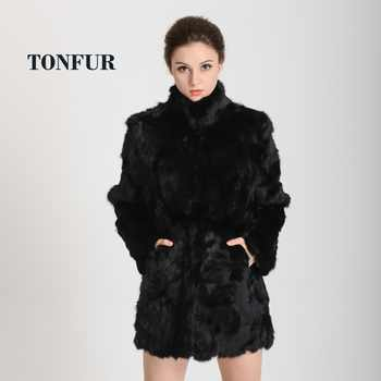 2019 New Women Fashion Real Rabbit Fur Coat Mandarin Collar Real Fur Coat Long Customize Jacket Free shipping HP147 - DISCOUNT ITEM  65% OFF All Category