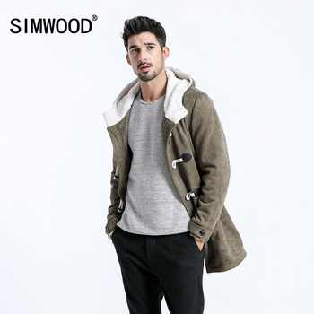 SIMWOOD 2019 Men Winter Coats Casual Long Faux Suede Men Jackets Winter Outerwear Warm Thick Brand Clothing manteau homme 180527 - DISCOUNT ITEM  49% OFF All Category