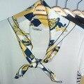 2016 Otoño Nueva Corea Moda Clásica Pequeño Cuadrado De Seda Impresa Bufandas Sra. Personalidad Salvaje Bufandas 70*70 cm