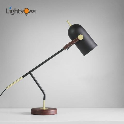 nordic moderno de couro ferro forjado candeeiro mesa personalidade criativa quarto cabeceira conduziu a lampada