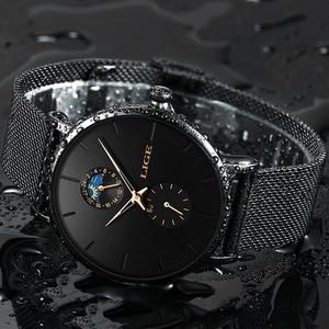 Image 2 - 2020 LIGE Mens Watches Top Brand Luxury Quartz Men Watch Mesh Belt Luxury Waterproof Sport Watch Men Male Clock Man Wristwatch