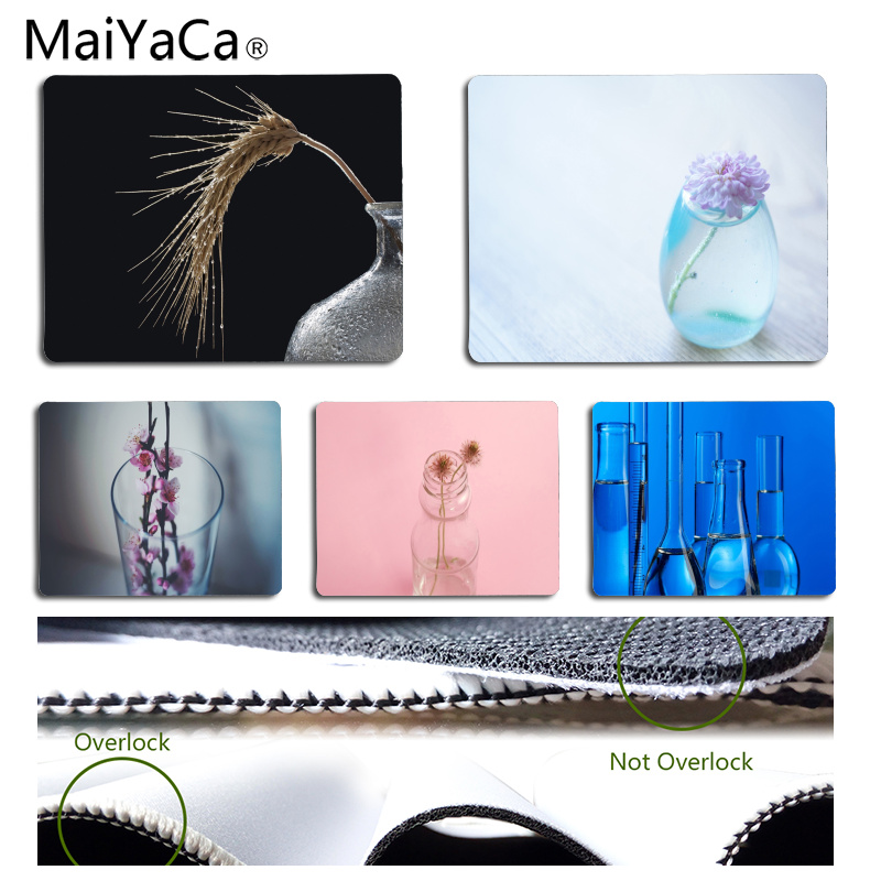 MaiYaCa Vintage Cool Glass bottle Customized laptop Gaming mouse pad Size for 18x22cm 25x29cm Rubber Rectangle Mousemats
