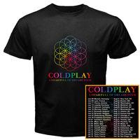 Coldplay World Tour Dates 2017 New Black White T Shirt Men Women Short Sleeve Funny T