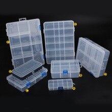 Urijk ювелирные изделия пластиковая коробка для инструментов домашние коробки для инструментов электронные компоненты коробка для хранения Комбинированный винт отделка кольцо коробка