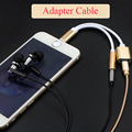 2em1 carregador de carregamento porta usb cabo do fone de ouvido para iphone 7 plus relâmpago para Adaptador de Porta de 3.5mm de Áudio Aux Cabo Dos Auscultadores 10 pcs