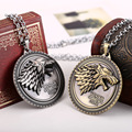 """4 styles  HBO Game of Thrones necklace House Stark Winter Is Coming Bronze 2"""" Metal Family Crest pendant jewelry souvenirs"""