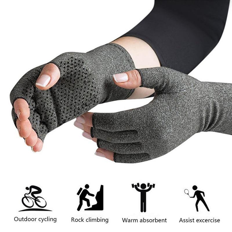 Un par 2018 nuevas manos guantes artritis compresión terapéutica hombres mujer circulación Grip, compresión artritis guantes