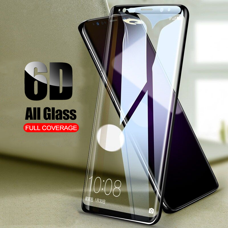 JRQITO 6D Curved Full Cover Tempered Glass For Samsung Galaxy S8 S9 Plus Screen Protector Film For Samsung S6 S7 Edge Glass Film ...