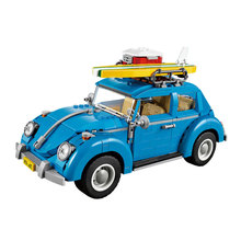 LEPIN 21003 Creator Series City Car Volkswagen Beetle model Building Blocks Compatible legoed 10252 Blue Technic Christmas Gifts