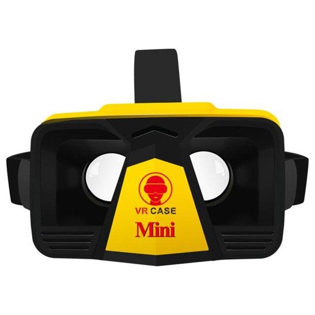 2016 For Google Cardboard 3D Glasses VR Case Mini VR Box Glasses Immersive Helmet Virtual Reality For 4-6.3 inch Phones Dec7