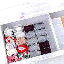 Органайзер для ящика шкафа коробки для нижнего белья бюстгальтер для домашнего хранения Нетканые шарфы Носки Органайзер для бюстгальтера коробка для хранения organizadores