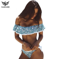 NAKIAEOI 2016 Sexy Bandeau Bikinis Women Swimsuit Brazilian Bikini Set Beach Bathing Suit Push Up Swimwear