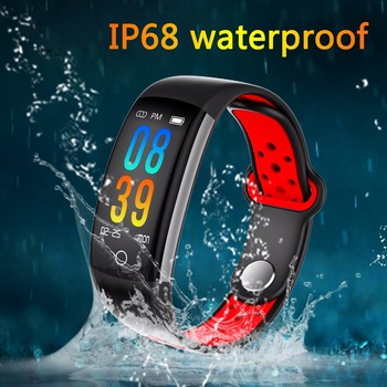 Newest IP68 Waterproof Smart Band Heart Rate Monitor Fitness Bracelet Watch Blood Pressure Fintess Tracker SmartBand Android IOS