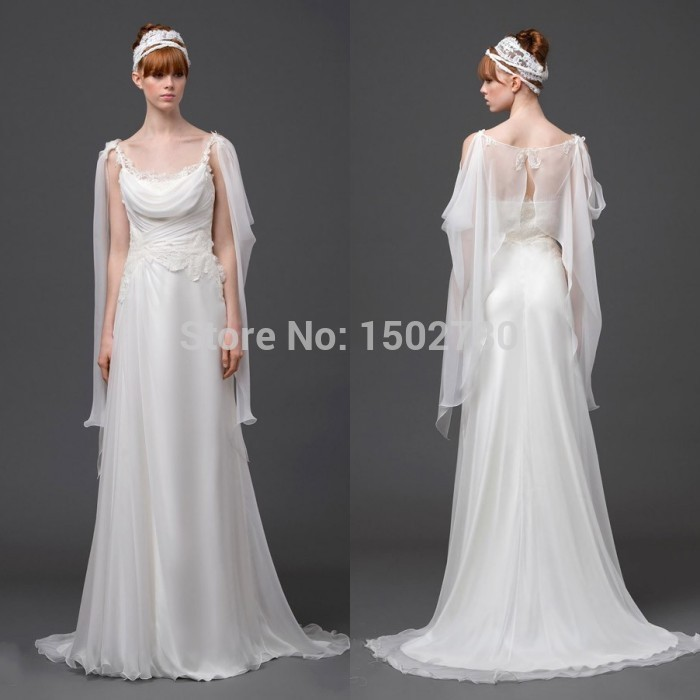 Fast Shipping Greek Goddess Wedding Dress 2015 Spaghetti Strap ...