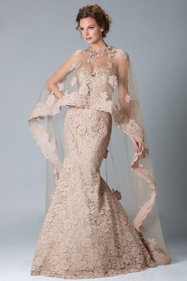 b860b79da95d Custom made Sexy Lace Mermaid Prom Dresses 2019 Sweetheart Zipper Back witj  Lace Shawl Formal Party Evening Dresses