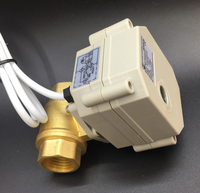 IP67 Brass DN15 BSP NPT1 2 2 Way DC24V Motorized Valve With Indicator CR501 With Signal