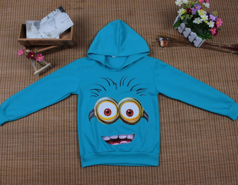 HTB1PKypdkfb uJjSsrbq6z6bVXay - Boy or Girl's High Quality Cotton Hoodie T-Shirts Cartoon Minion Print Design