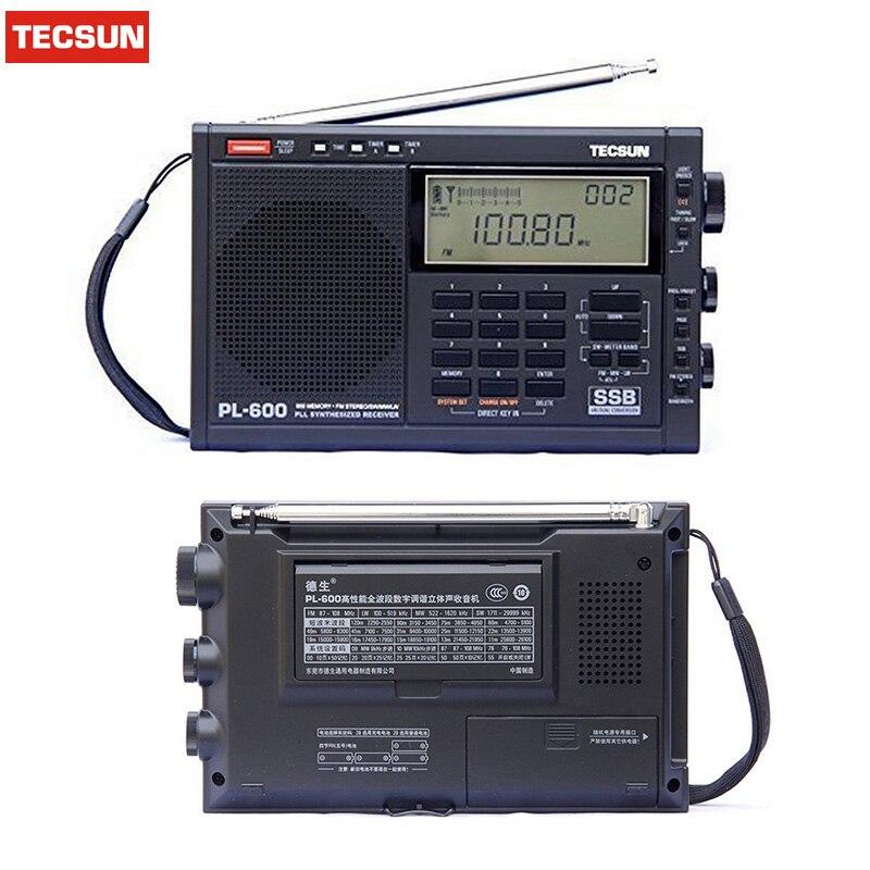 Wholesale Tecsun pl600 FM radio Stereo pl-600 fm Radio clock radio Digital Receiver SSB Radio Digital Demodulation