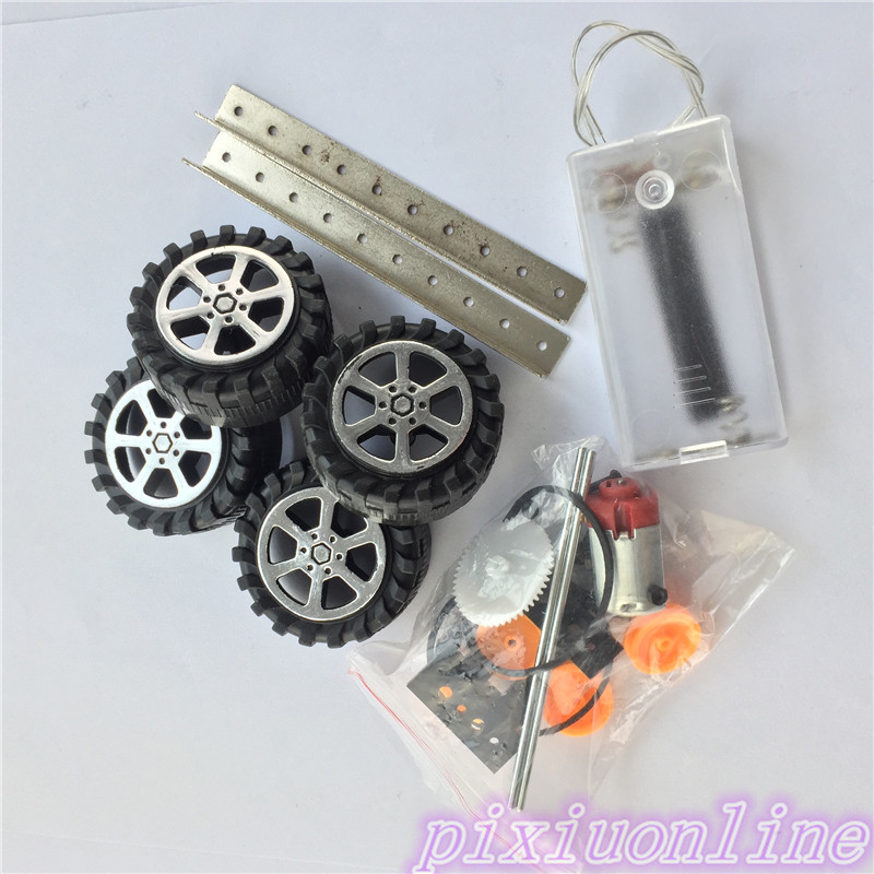 1set J084Y DIY Small Four-wheel Drive Car Interesting DIY Tool Making for Adults and Children High Quality On sale