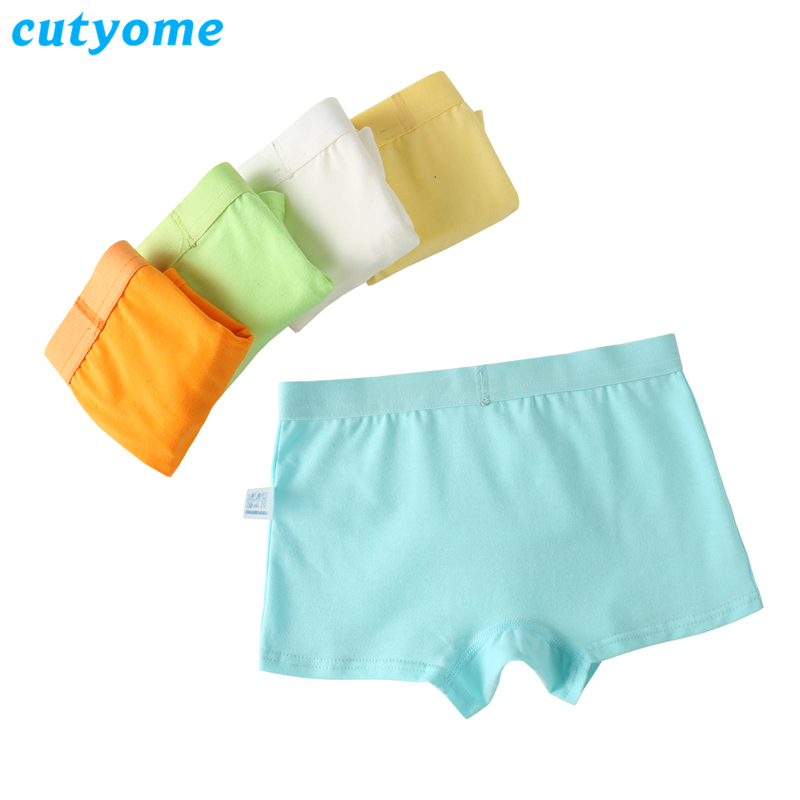 5pcs / lot Baby Boys Underkläder Boxers Cutyome Solid Bomull Barn Underbyxor Modell Teenage Puberty Undies Shorts Barn Panties